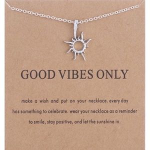 "Silver ""GOOD VIBES ONLY"" Necklace"